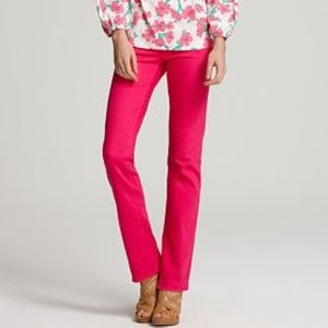 Lilly Pulitzer Worth Straight Leg Jeans Pink 8